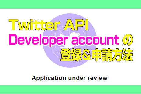 Twitter API:Developer accountの登録&申請方法